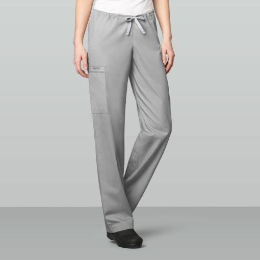 Grey Unisex Drawstring Cargo Pant