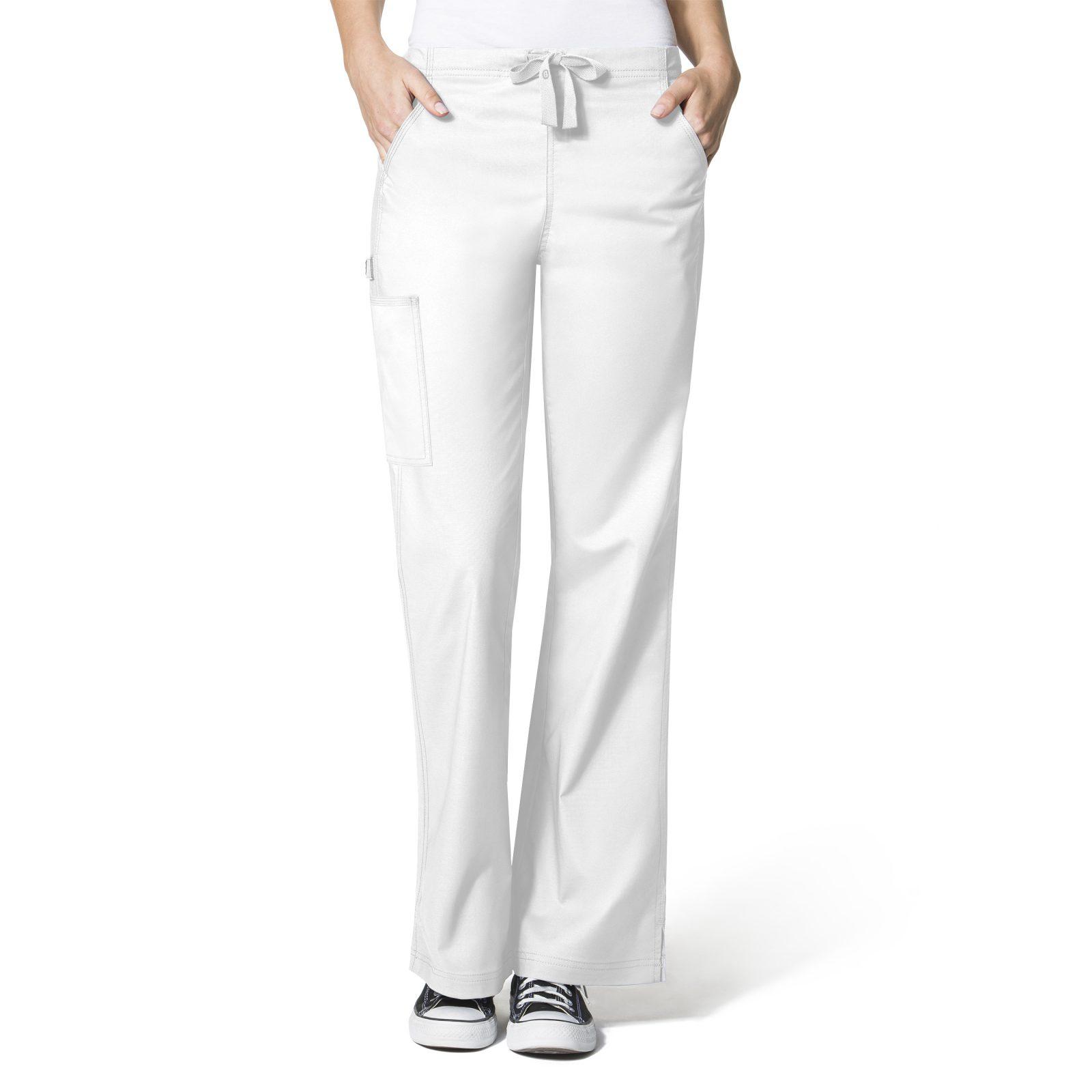 WONDERFLEX FLARE LEG CARGO PANT WHITE