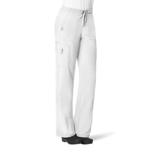 WHITE CARHARTT WOMEN'S UTILITY BOOT CUT PANT
