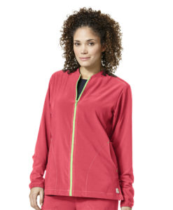 AZALEA CARHARTT WOMEN'S KNIT MIX ZIP FRONT JACKET