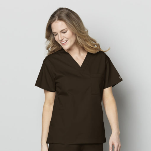 Chocolate Unisex V-Neck Top