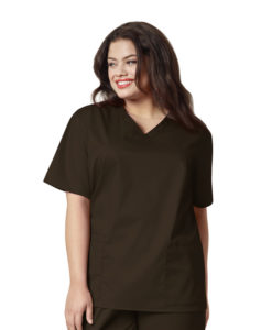 Chocolate Women's V-Neck Top