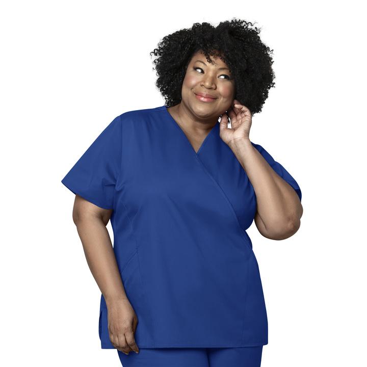 Galaxy Blue Women's Mock Wrap Top