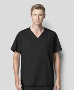 Black Men's V-Neck Top