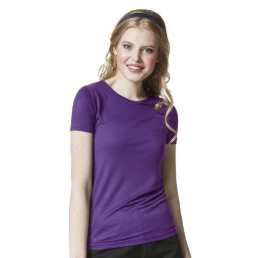Elec Violet Silky Knit Short Sleeve Tee