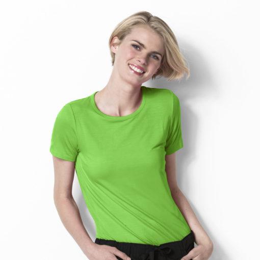 Lime Silky Knit Short Sleeve Tee