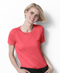 Papaya Silky Knit Short Sleeve Tee