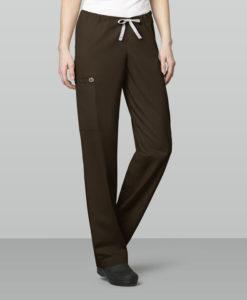 Chocolate Unisex Drawstring Cargo Pant
