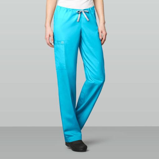 Light Turquoise Unisex Draw. Cargo Pant