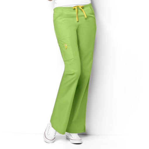 Green Apple Romeo -6Pkt Flare Leg Pant