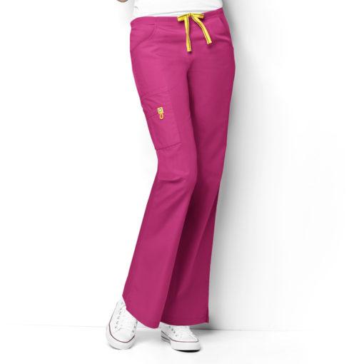 Hot Pink Romeo -6Pkt Flare Leg Pant