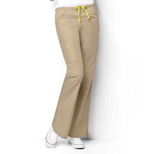 Khaki Romeo -6Pkt Flare Leg Pant