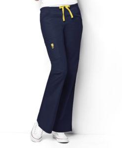 Navy Romeo -6Pkt Flare Leg Pant