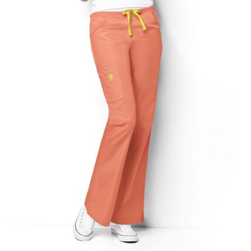 Orange Sherbet Romeo 6Pkt Flare Leg Pant