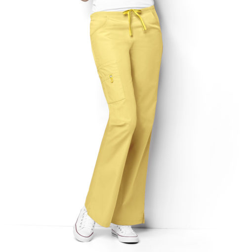 Yellow Romeo -6Pkt Flare Leg Pant