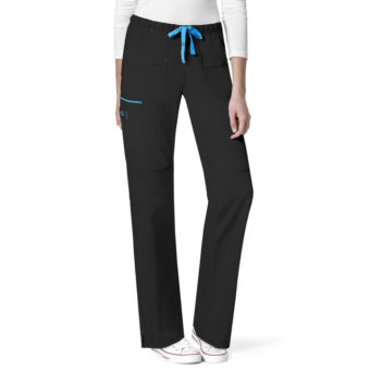 Black Joy-Denim Style Straight Pant