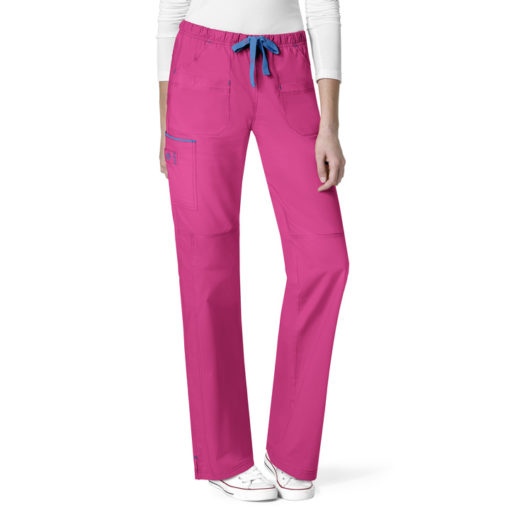 Hot Pink Joy-Denim Style Straight Pant