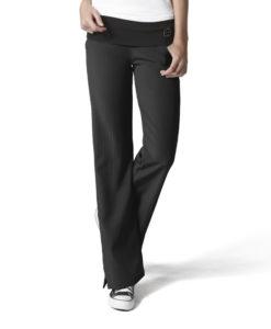 Black Fold Over Knit Waist Pant