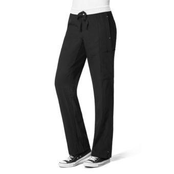 Black Straight Leg Cargo Pant