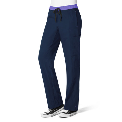 Navy Straight Leg Cargo Pant