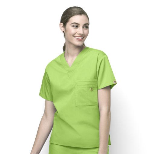 Green Apple Alpha - Unisex V-Neck Top