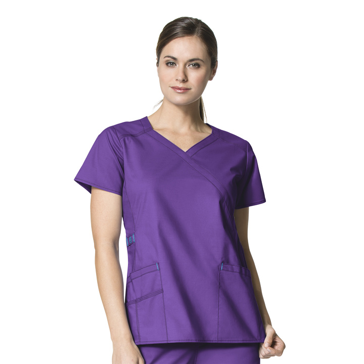 Elec Violet Charity Fashion Y-Neck Top