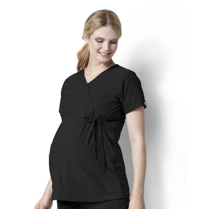 Black Maternity Stretch Top