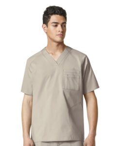 Khaki Anchor-Men's Pocket V-Nk Top