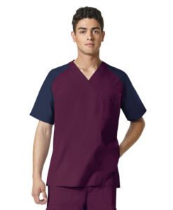 Wine Anchor-Men's Pocket Block Top