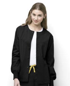 Black Delta -Snap Front Jacket