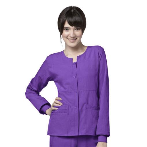Electric Violet Sporty Snap Jacket