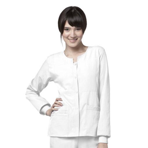 White Sporty Snap Jacket