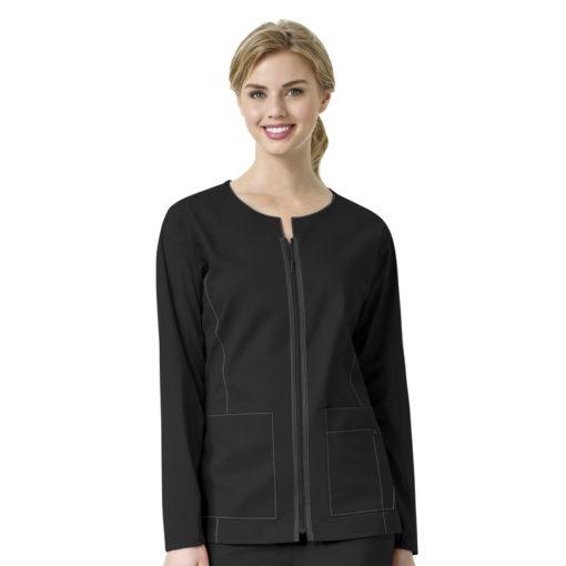 Black Women's Zip Front Jacket