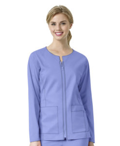 Ceil Blue Women's Zip Front Jacket