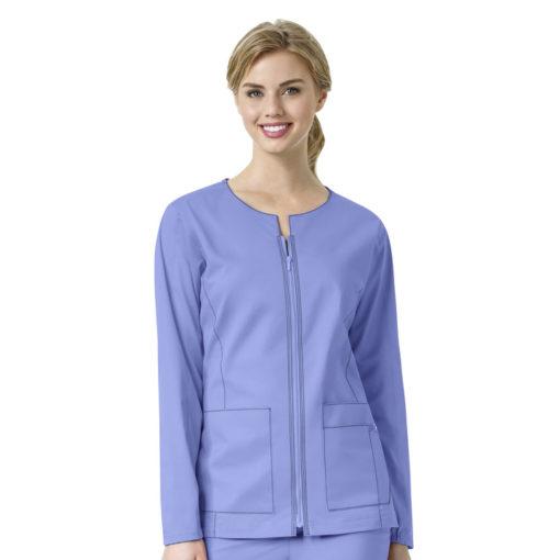 Ceil Blue Women's Zip Front Jacket