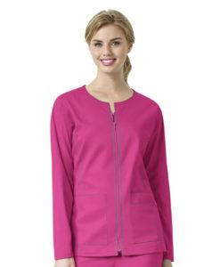 Hot Pink Women's Zip Front Jacket