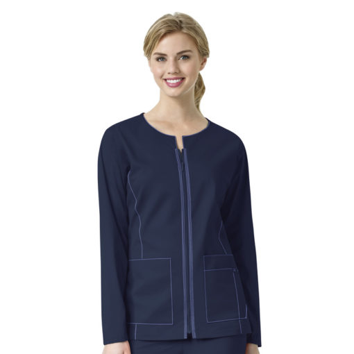 Navy Women's Zip Front Jacket