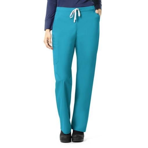 Teal Blue Multi-Pocket Cargo Pant