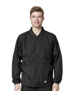 Black Men's Ripstop Zip Front Jacket
