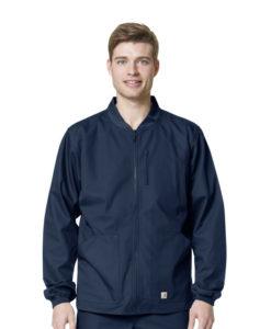 Navy Men's Ripstop Zip Front Jacket