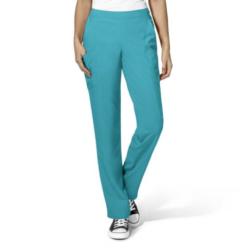 Teal Blue Women's Full Elastic Pant