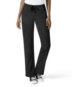 Black Wms Elastic Pant W/Drawstring