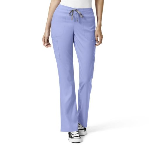 Ceil Blue W Mod Flare Leg Cargo Pant