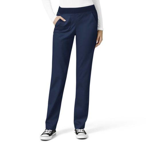 Navy Women's Knit Waist Cargo Pant