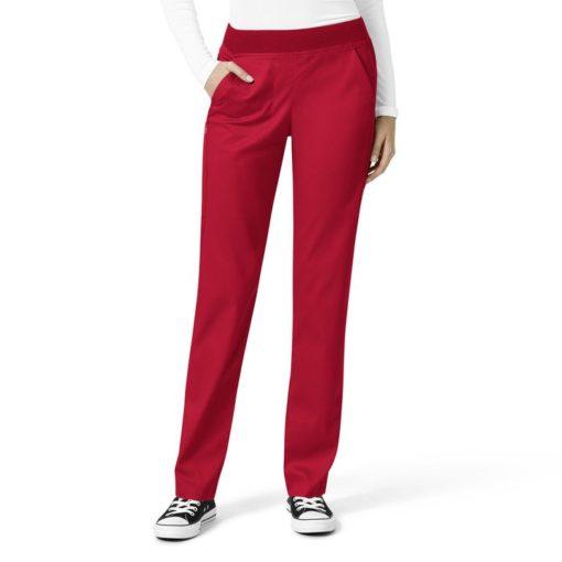 Red Women's Knit Waist Cargo Pant