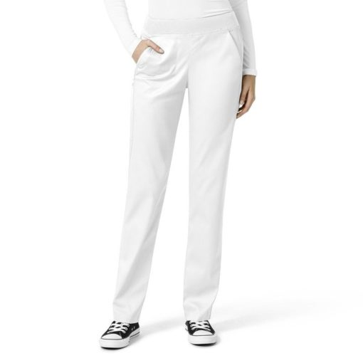 White Women's Knit Waist Cargo Pant