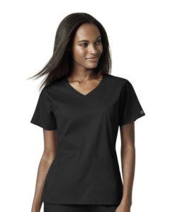 Black Women's 4 Pocket Wrap Top