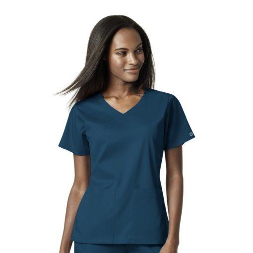 Caribbean Women's 4 Pocket Wrap Top