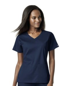 Navy Women's 4 Pocket Wrap Top