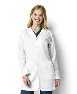 White Womens Fashion Lab Coat